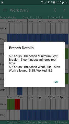 work diary mate screen breach