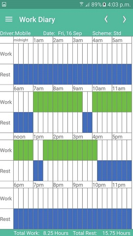 work diary mate daily sheet
